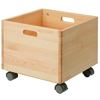 パイン材収納BOX・キャスター付き,おもちゃ,収納,