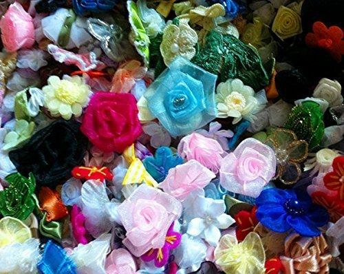 (マイホット) MyHot DIY 手芸 福袋 造花 飾り フラワー リボン セット 100 個,手作り,ヘアアクセ,
