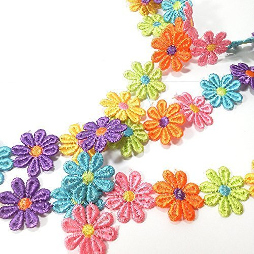Varvena お花 の レース 6.5m レース リボン ハンドメイド 服 雑貨 に (カラフル),手作り,ヘアアクセ,