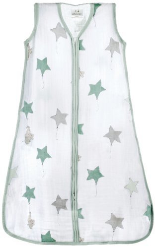 aden + anais (エイデンアンドアネイ) 【日本正規品】 クラシック スリーピング バッグ (スリーパー) up, up and away sleeping bag (L) 8064,出産祝い,名入れ,