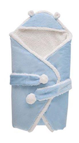 ふかふか ボア フリース おくるみ 赤ちゃん ベビー アフガン ブランケット スリーパー 冬 お出掛け ( ブルー),出産祝い,名入れ,