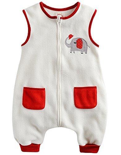 [VaenaitBaby]キッズ女の子ベービーブランケット毛布フリース寝袋スリーパーパジャマスリーブバッグWhite Elephant S,出産祝い,名入れ,