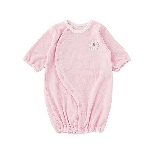 (チャックル) chuckle アップリケ付きタオル地新生児ツーウェイオール【50cm】 ピンク 50cm P5136-50-20,赤ちゃん,カバーオール,