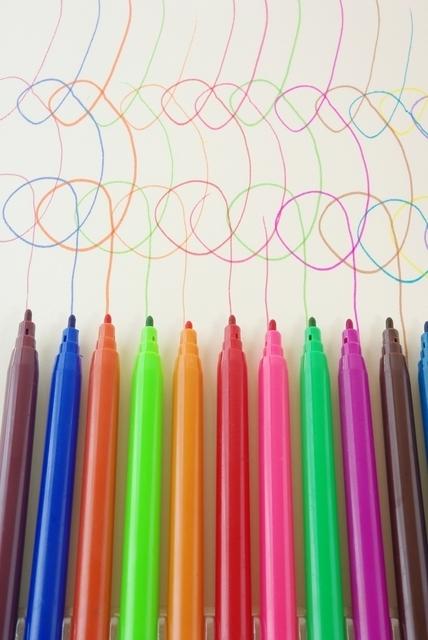 水性のカラーペン,自由研究,簡単,