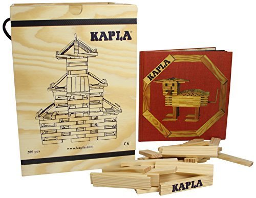 【積木・カプラ <カプラ280(白木)+デザインブック(中級・赤)>木箱入り】【正規輸入品】,子ども,積み木,おすすめ