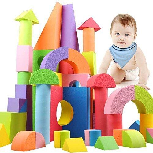 WTOR EVA素材 積み木 ブロック 知育 玩具 男の子 女の子 贈り物 誕生日プレゼント 出産祝い 50ピース (50ピース/バック),子ども,積み木,おすすめ