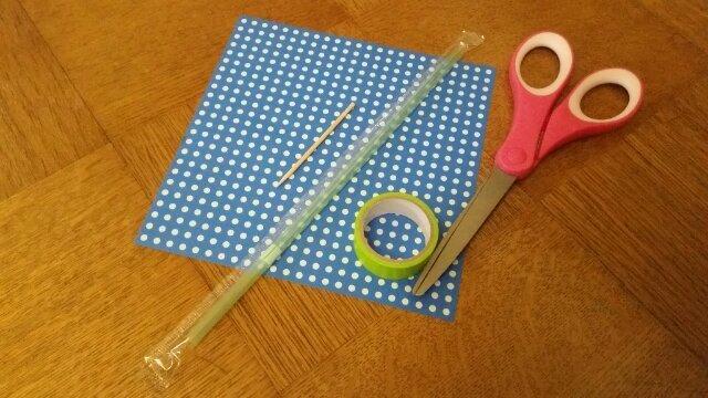 折り紙風車に必要な材料(オリジナル),折り紙,工作,