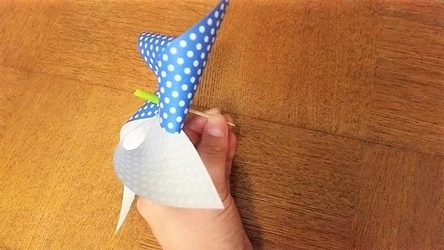 つまようじを刺した折り紙(オリジナル),折り紙,工作,