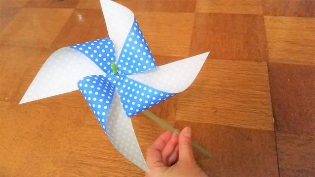 折り紙の風車(オリジナル),折り紙,工作,