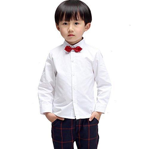 e945a12c584c1 (モリハニ) Moli&Hani 子供 ワイシャツ シャツ チェック 柄 Yシャツ キッズ 結婚式 発表会