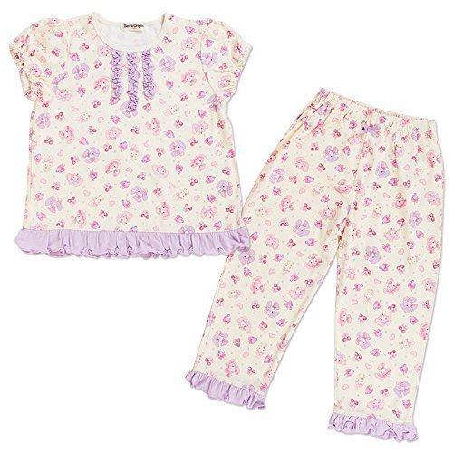 ぼんぼんリボン 半袖パジャマ (ベリー) 110cm,子供服,パジャマ,