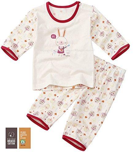 【あるこんたるこん】 オーガニックコットン ベビー キッズ ジュニア ルームウェア サリー 女の子 パジャマ 7分袖 ハーフパンツ (90),子供服,パジャマ,