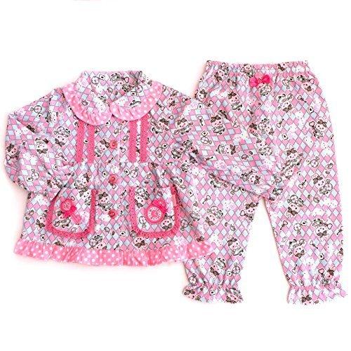 うさももちゃん コットン ネルパジャマ アリス柄 (110cm),子供服,パジャマ,
