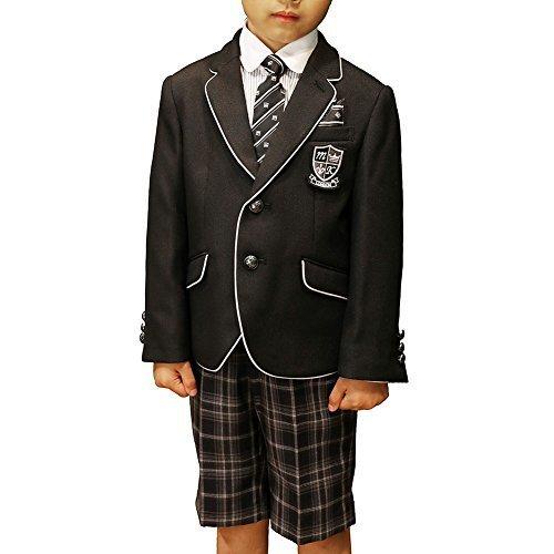 【30%OFF】MICHIKO LONDON (ミチコロンドン) 5点セット パイピングジャケットスーツセット (130, ブラック),子ども,フォーマル,