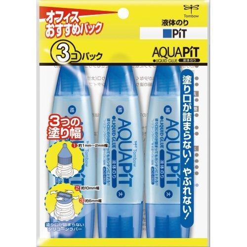 トンボ鉛筆 液体のり アクアピット HCA-311 3個,子ども,のり,