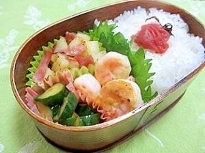 海老のピカタ弁当,お弁当,卵,レシピ