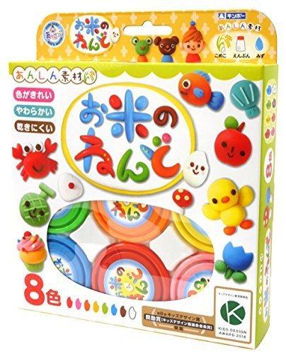 ギンポー お米のねんど 8色入り A-RD8ZF,粘土遊び,幼児,