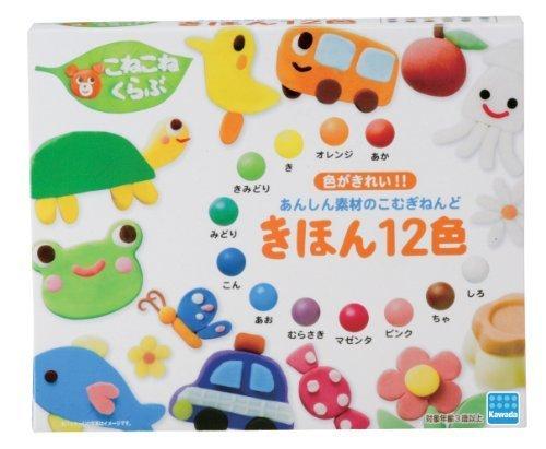 こねこねくらぶ きほん12色,粘土遊び,幼児,