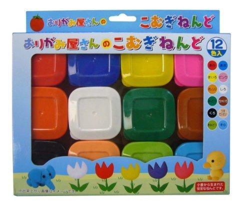 エヒメ紙工 こむぎねんど EN12-800 12色入,粘土遊び,幼児,