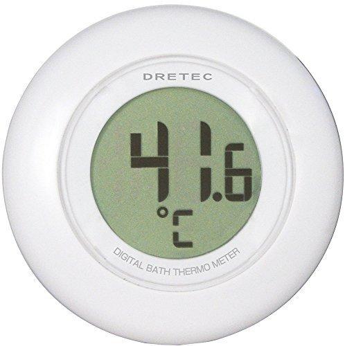 ドリテック(dretec) デジタル湯温計 ホワイト O-227WT,湯温計,