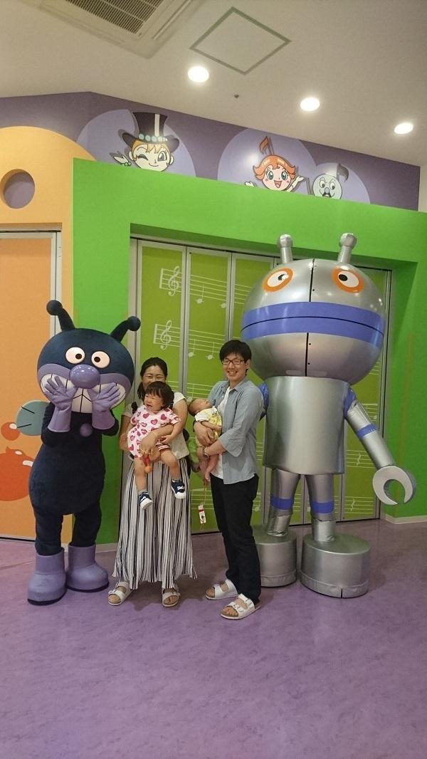 バイキンマンと親子,神戸,アンパンマンこどもミュージアム,