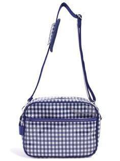 いつも一緒のmy通園バッグ チェック大・紺 日本製 N0506100,保育園,バッグ,