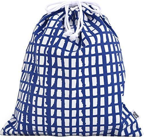 ルネ・デュー 北欧柄 巾着袋 Studio Hilla 大 ピック ブルー 15430010,保育園,バッグ,