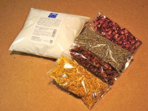 手作りせっけんキット バラ、ラベンダー、ローズヒップス、マリーゴールド付き,手作り,石鹸,