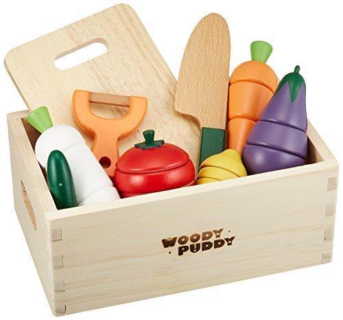 はじめてのおままごと サラダセット (木箱入り) G05-1139,ままごと,おもちゃ,