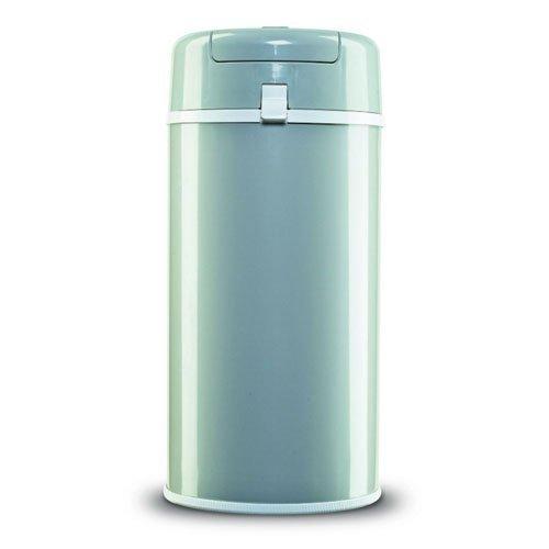 Primanova スタイリッシュペール 2重フタ構造で臭いもれしにくい おむつ用ごみ箱 グレー,おむつ,ゴミ箱,