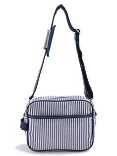いつも一緒のmy通園バッグ ヒッコリーストライプ・紺 日本製 N0523500,幼稚園,通園,バッグ