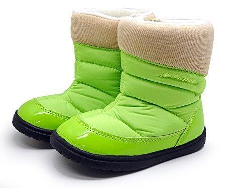 North Date MEG1310 15.0 ライトグリーン [ ノース デイト キッズ ジュニア ウインター スノー ダウン ブーツ ],ベビー,ブーツ,