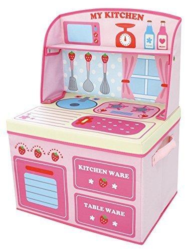 ままごと収納ボックス キッチン イチゴ 14814,おもちゃ,片付け,