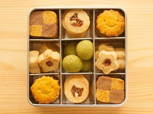 笑顔の無添加*野菜大豆粉クッキー/Lucky☆幸運を呼ぶグリーンクッキー缶♪,お見舞い,手土産,