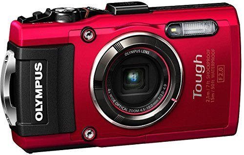OLYMPUS デジタルカメラ STYLUS TG-4 Tough レッド 1600万画素CMOS F2.0 15m 防水 100kgf耐荷重 GPS+電子コンパス&内蔵Wi-Fi TG-4 RED,デジタルカメラ,おすすめ,