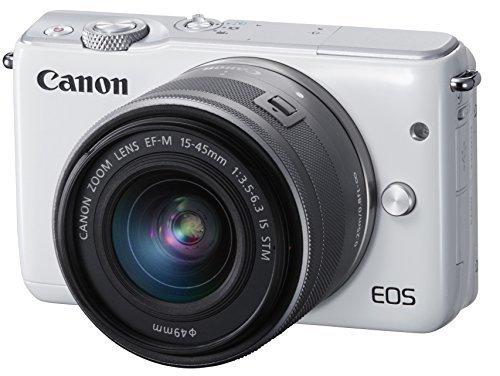 Canon ミラーレス一眼カメラ EOS M10 レンズキット(ホワイト) EF-M15-45mm F3.5-6.3 IS STM 付属 EOSM10WH-1545ISSTMLK,デジタルカメラ,おすすめ,