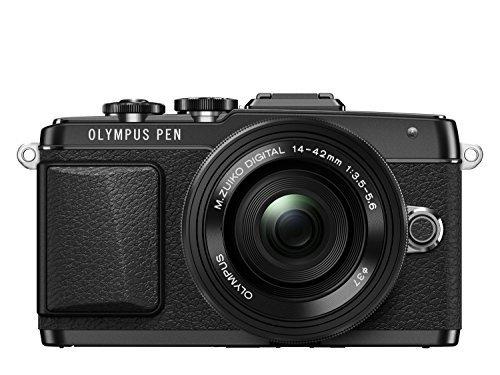 OLYMPUS PEN E-PL7 14-42mm EZレンズキット ブラック ミラーレス一眼 E-PL7 EZ LKIT BLK,デジタルカメラ,おすすめ,