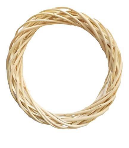 ホワイト(クリーム色)リース 土台 フラワーリース ベーシック 輪 手芸 手作り 贈り物に L:直径約20~21cm (1セット),リース,手作り,