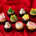 クリスマスカップケーキ10個セット【クリスマス お菓子 詰め合わせ クリスマスケーキ 数量限定 予約 チョコレート チョコ お歳暮 クリスマス ギフト プレゼント パーティー サンタ】,クリスマス,ケーキ,通販