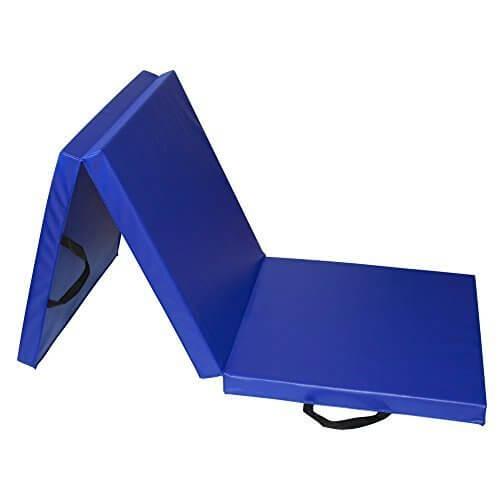 RIORES (リオレス) スポーツマット 折りたたみ式 エクササイズマット 体操マット (ブルー),室内鉄棒,