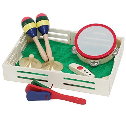 キクタニ キッズパーカッション5点セット 子ども用柄付きカスタネット タンバリン ミニシンバル マラカス木製カズー セット BB-18,おもちゃ,楽器,