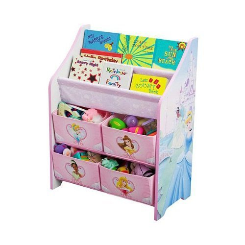 ディズニー プリンセス 本棚&おもちゃ箱 【84655】 [並行輸入品],絵本,ラック,