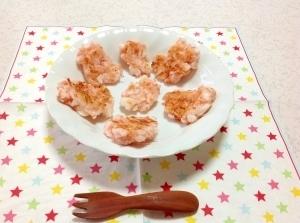 離乳食☆(完了期)はんぺんと桜エビのお焼,離乳食,山芋,