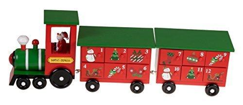 クリスマス24日Advent Calendar | Santa 's Express Trainクリスマス装飾テーマペイント木製|メジャー17.25,クリスマス,アドベントカレンダー,