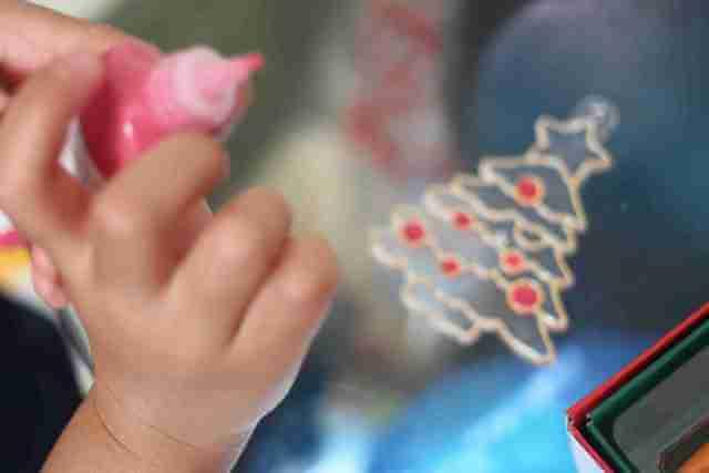 ヤマト 画材 グラスデコ クリスマス オーナメントセットをやる子ども,グラスデコ,