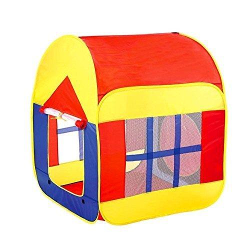 BATTOPキッズテント 室内 屋外 1 ~ 7歳の子ども知育玩具 ゲームハウス 収納バッグ付き 両とびら型テント,おもちゃ,1歳,