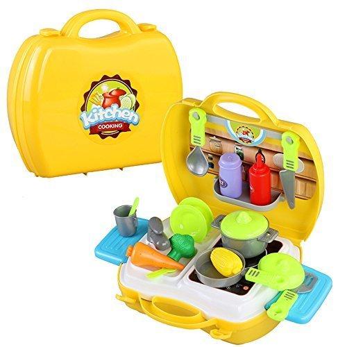 おままごと 収納トランクセット おもちゃ お料理 ホーム調理台 野菜の料理 キッチンセット,手作り,おままごと,