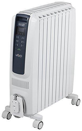 DeLonghi オイルヒーター ドラゴンデジタル スマート X字型フィン9枚 【10~13畳用】 QSD0915-BL,赤ちゃん,暖房,
