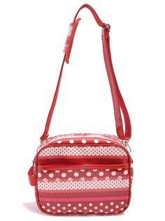 いつも一緒のmy通園バッグ リボンとレースの水玉ハーモニー(レッド) 日本製 N0517800,幼稚園,バッグ,