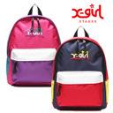 X-girl Stages エックスガール ステージス リュック ロゴ刺しゅう入りマルチカラーリュック 9272403,幼稚園,バッグ,